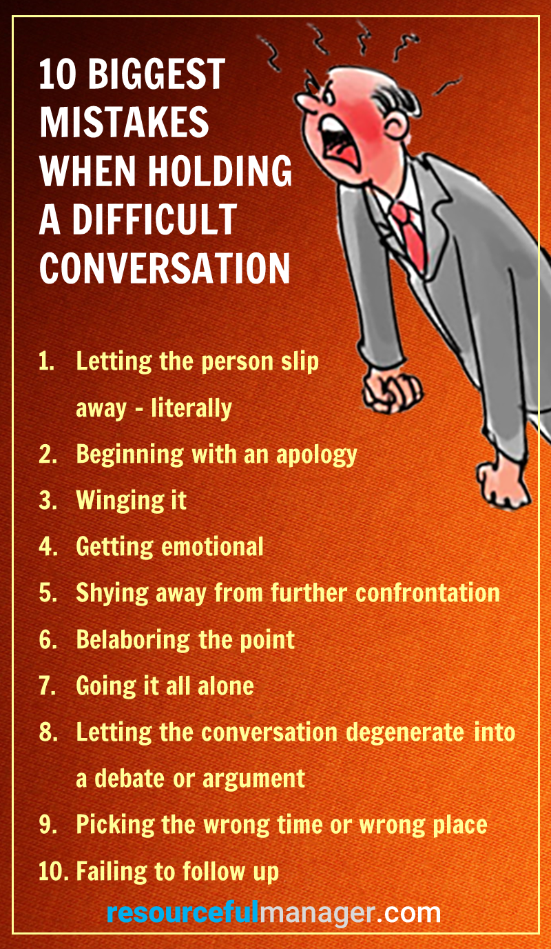 difficult conversation mistakes