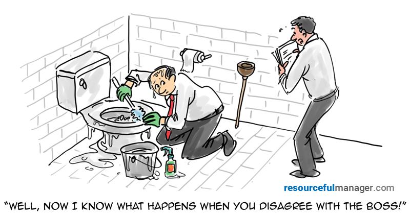 disagree with the boss cartoon