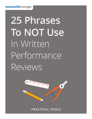 25 Phrases Not to Use in Performance Reviews