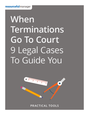 When Termination Cases Go to Court: 9 Legal Cases to Guide You