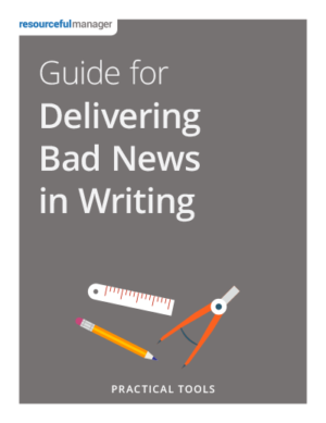 Cover: Guide To Delivering Bad News In Writing