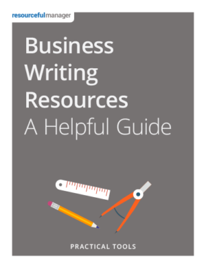 Cover: Business Writing Resources - A Helpful Guide