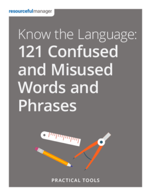Cover: Know the Language - 121 Confused and Misused Words and Phrases