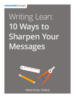 Cover: Writing Lean - 10 Ways To Sharpen Your Messages