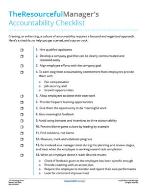 ResourcefulManager Accountability Checklist