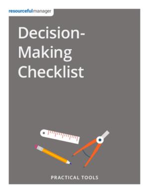 Cover - Decision-Making Checklist