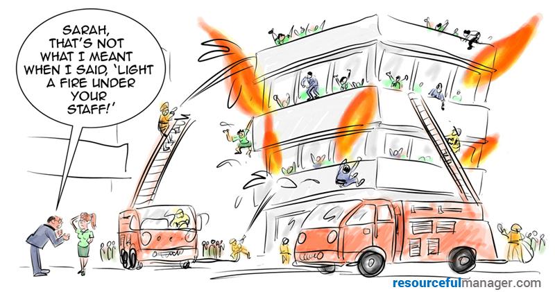 fire up employees art