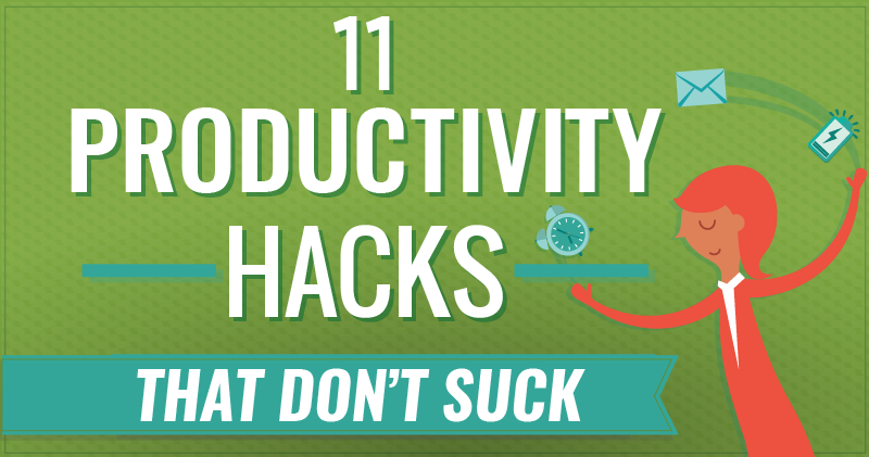 productivity hacks cover art