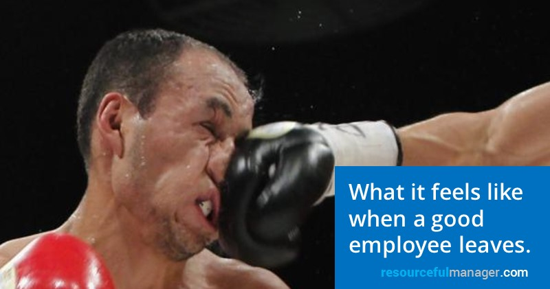 What feels like when a good employee leaves